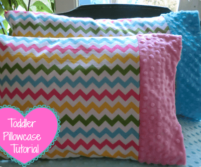 Minky Toddler Pillowcase Tutorial
