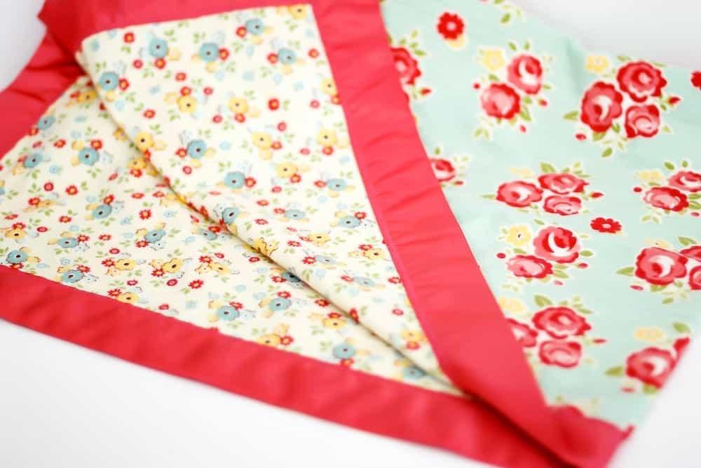 how to make ruffle blanket binding