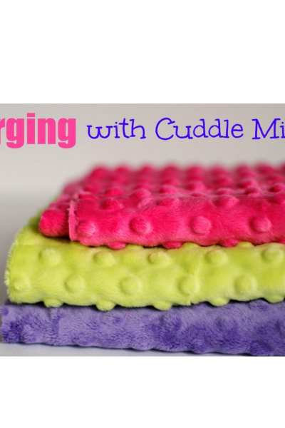 Serging with Cuddle Minky