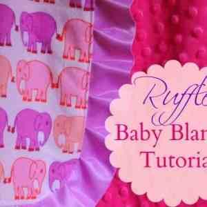Ruffle baby blanket tu