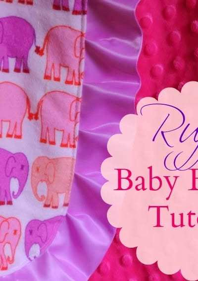 Ruffle Baby Blanket Tutorial DIY your own Boutique Blanket