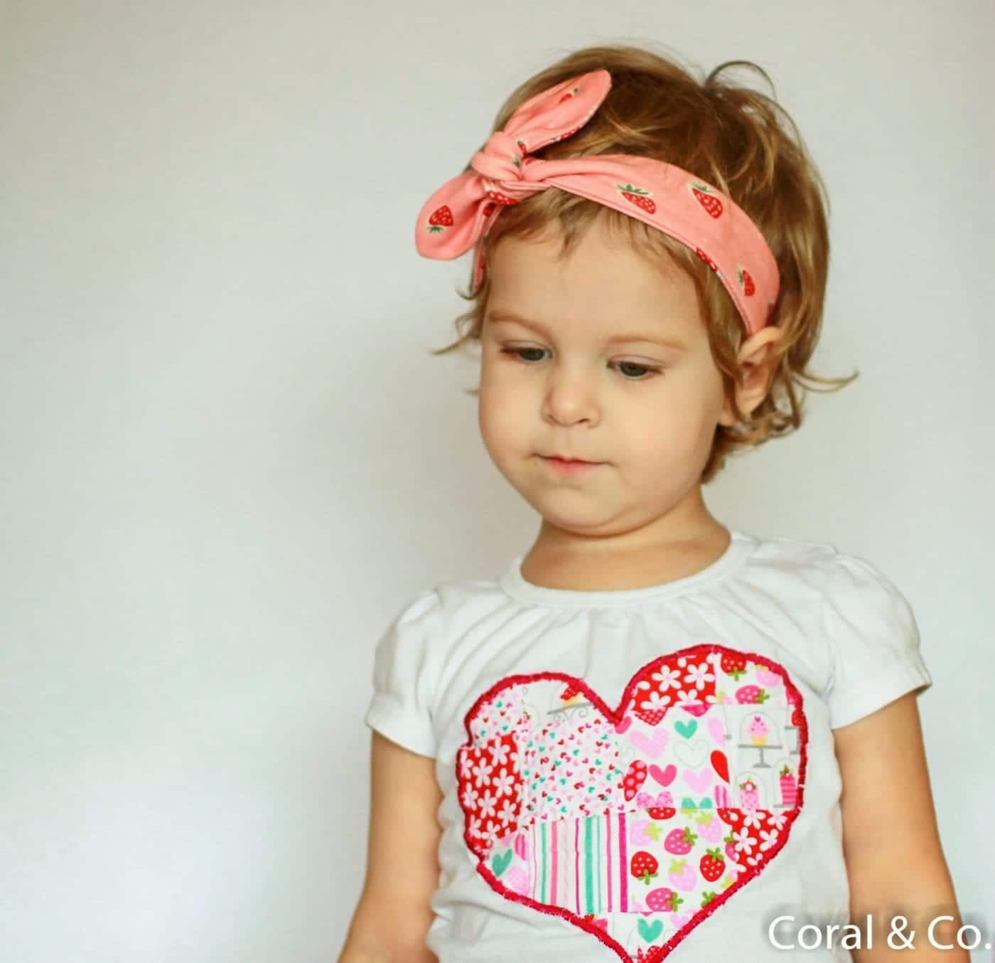Valentines Day Outfit with Organic Strawberry Leggings and a Patchwork Heart T-shirt. Made by Coral & Co. (2 of 14)