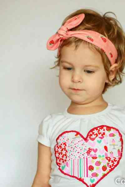 Valentines Day Outfit – Strawberry Leggings and Knot Headband
