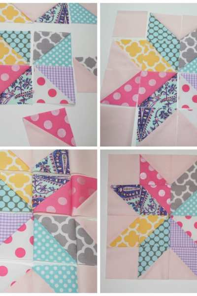 Star Flower Quilt Block Tutorial
