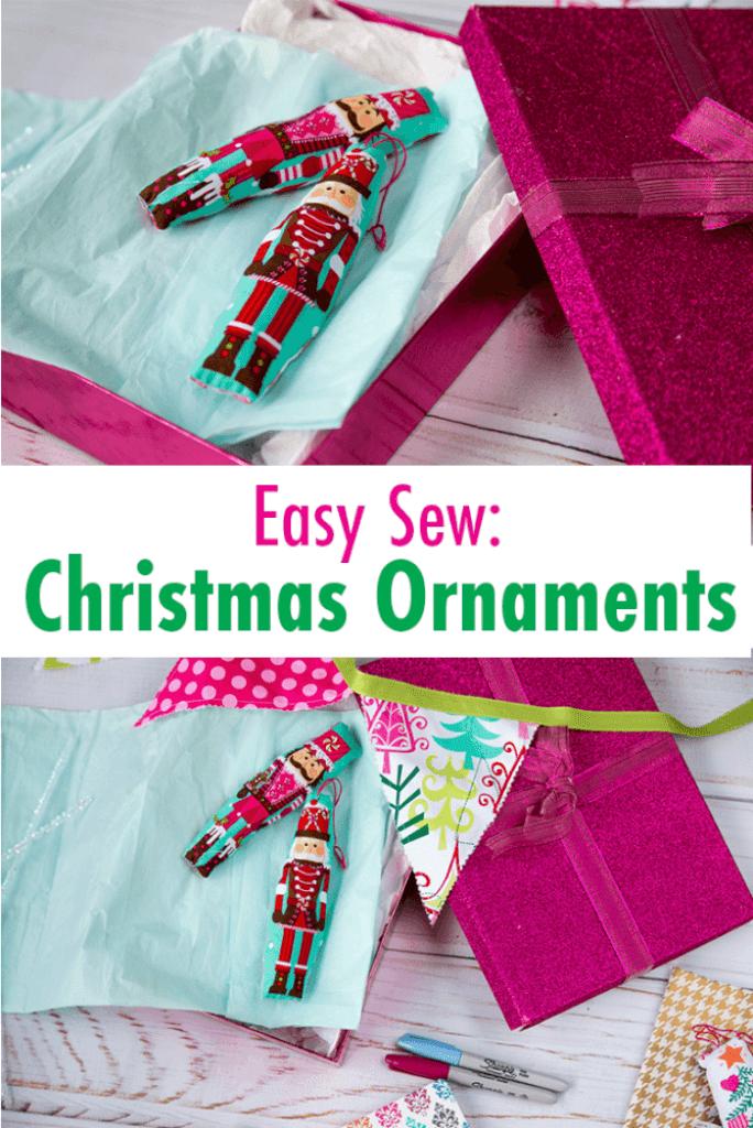 Sewing tutorial: Easy kid friendly fabric Christmas ornaments