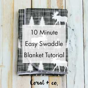 Easy DIY Baby Swaddle Blanket Pattern and Tutorial