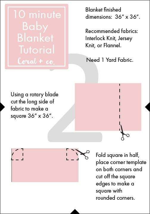 Easy DIY Baby Swaddle Blanket Pattern and Tutorial - Coral + Co. 6eda7755a