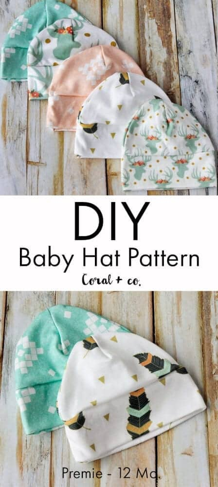 Baby Hat Sewing Pattern And Tutorial Easy Diy Baby Knit Hat Pattern