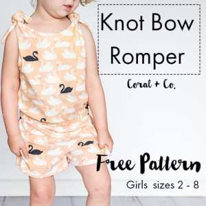 Free Girls Romper Pattern – Easy Knit Romper for toddlers and girls