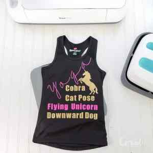 Kids Unicorns and Yoga Tanks Video Tutorial + New Cricut SportFlex Iron On