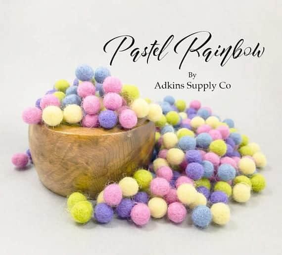 easter-wool-ball-garland-kit