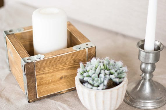 mothers-day-rustic-wood-candle-holder