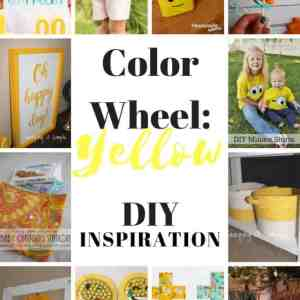 DIY Color Wheel with Yellow color Inspiration + Block Party