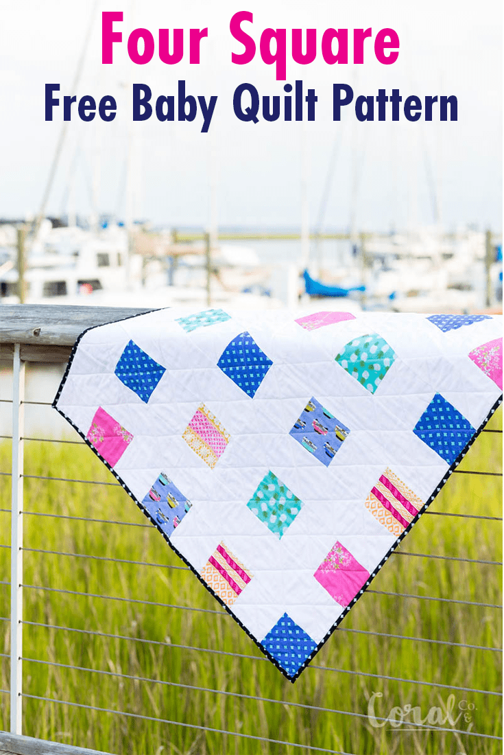 Simple Charm Pack Baby Quilt Pattern Free Four Square Quilt Pattern