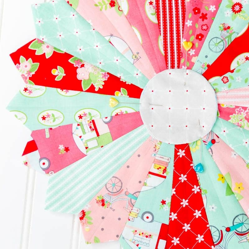How To Make A Dresden Plate Quilt Block Tutorial With Template