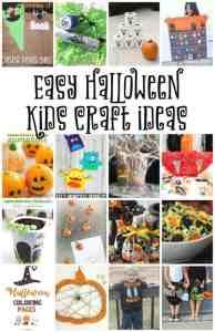 Easy Halloween Kids Craft Ideas