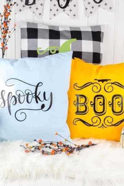 Easy DIY Halloween Iron on Pillows