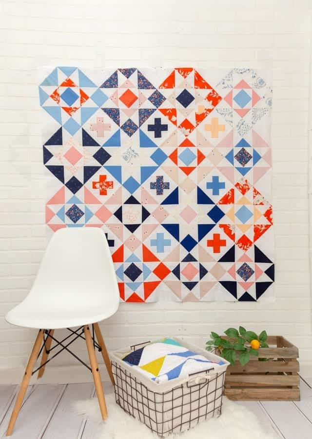 Modern-quilt-pattern-nordic-crossing-quilt-coral-and-co