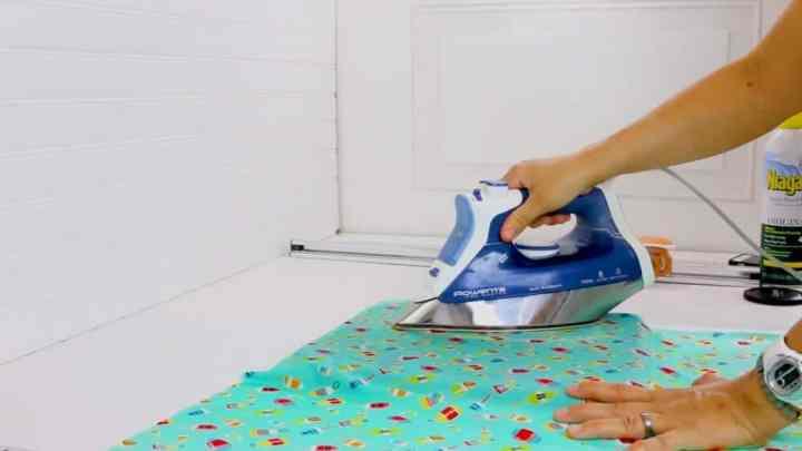 iron fabric before cutting