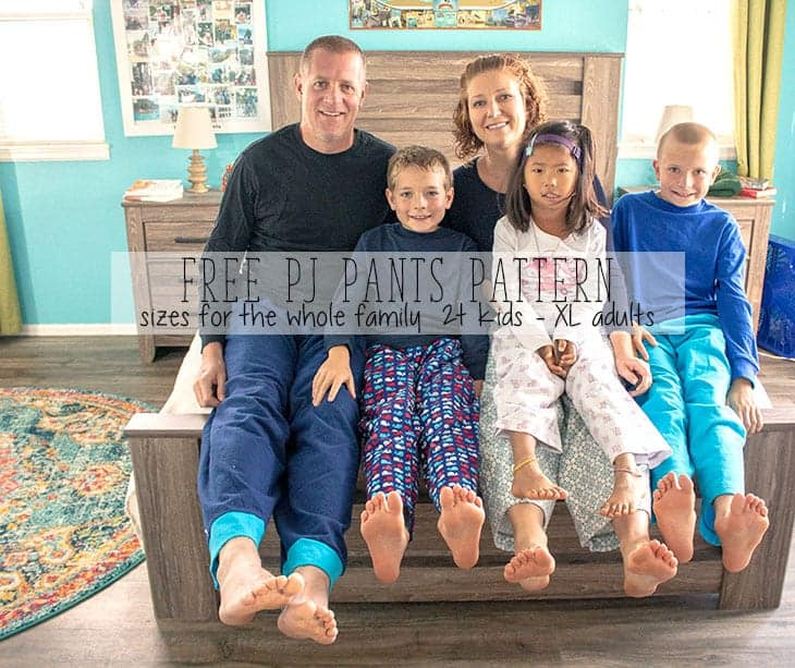 Pajama Pants Pattern - Free PDF for the Whole Family