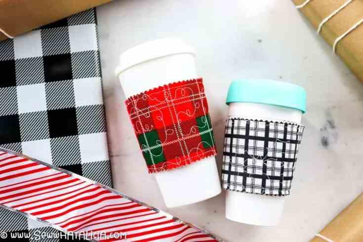 Quilted DIY Coffee Cup Sleeves Tutorial