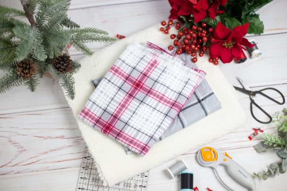 fleece-and-flannel-blanket-diy-supplies-needed