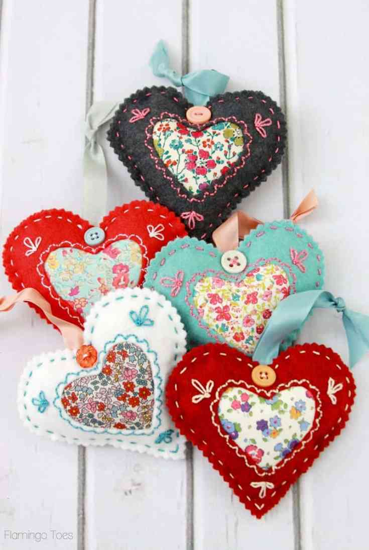 DIY Fabric Hearts for Valentine's Day | Sewing