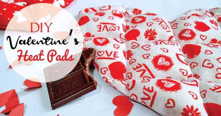 Heart Heating Pads, A thoughtful Valentine's DIY gift.
