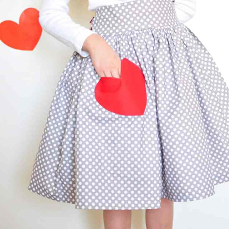 A Valentine Skirt. - Simple Simon and Company