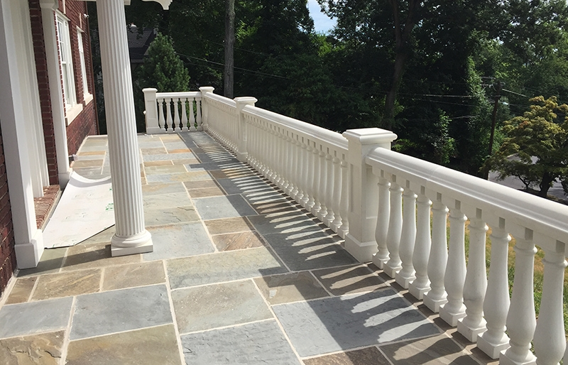 Concrete Balustrade Porch Railings Stair Railings Stair Balusters | Railing For Concrete Porch | Residential | Paver Patio | Hand | Flagstone Porch | Repair