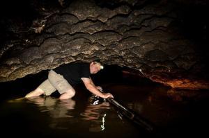 Off Road Cave Safari_A guest goes through the pregancy gap