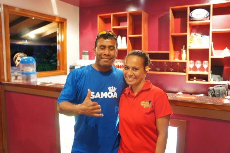 Lolla and Serevi at Koko's Bar, Korotogo, Fiji