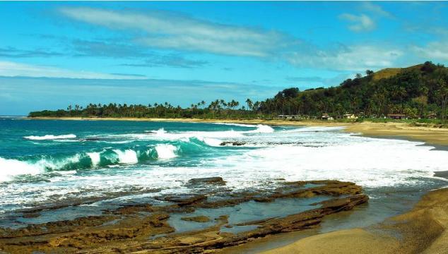 Loka -an unusually high tide that occurs on the Coral Coast, Fiji