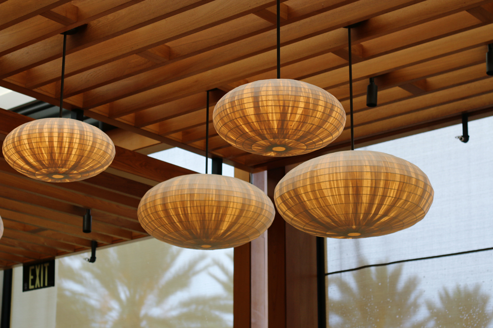 Nobu Miami at Eden Roc Hotel decorative paper lanterns