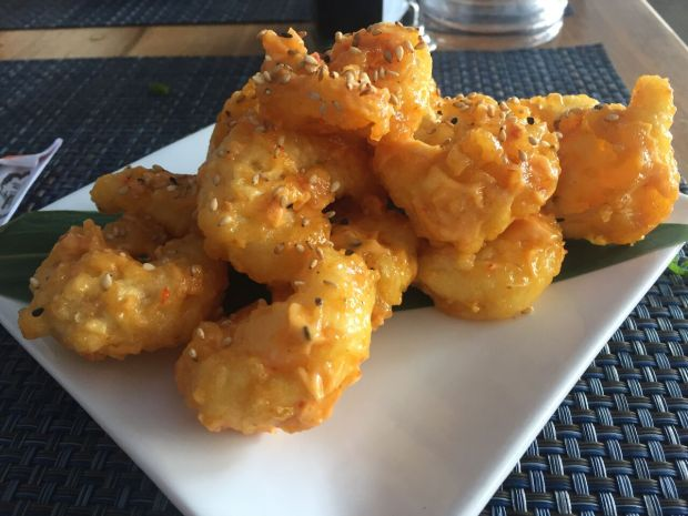 Lava Shrimp Tempura from Sushi Maki in Coral Gables! Click to read more or Pin and save for later.