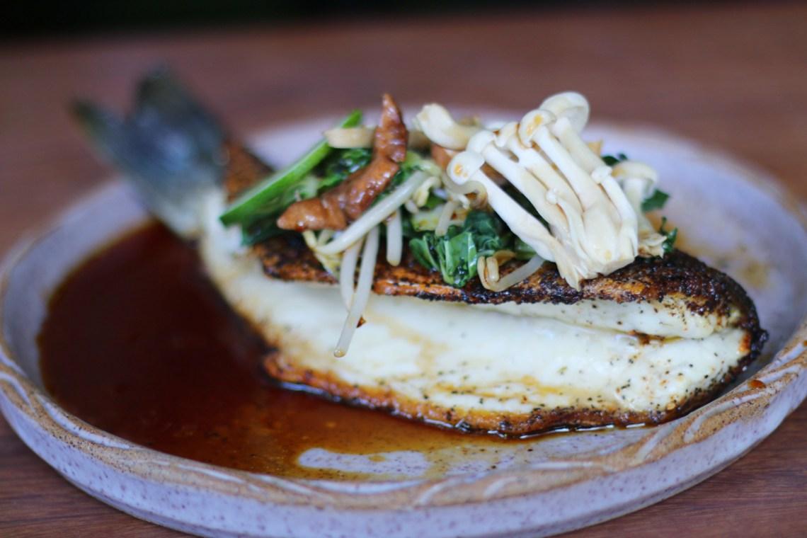 320 Gastrolounge restaurant in Coral Gables, FL. Miami dining bronzino sudado