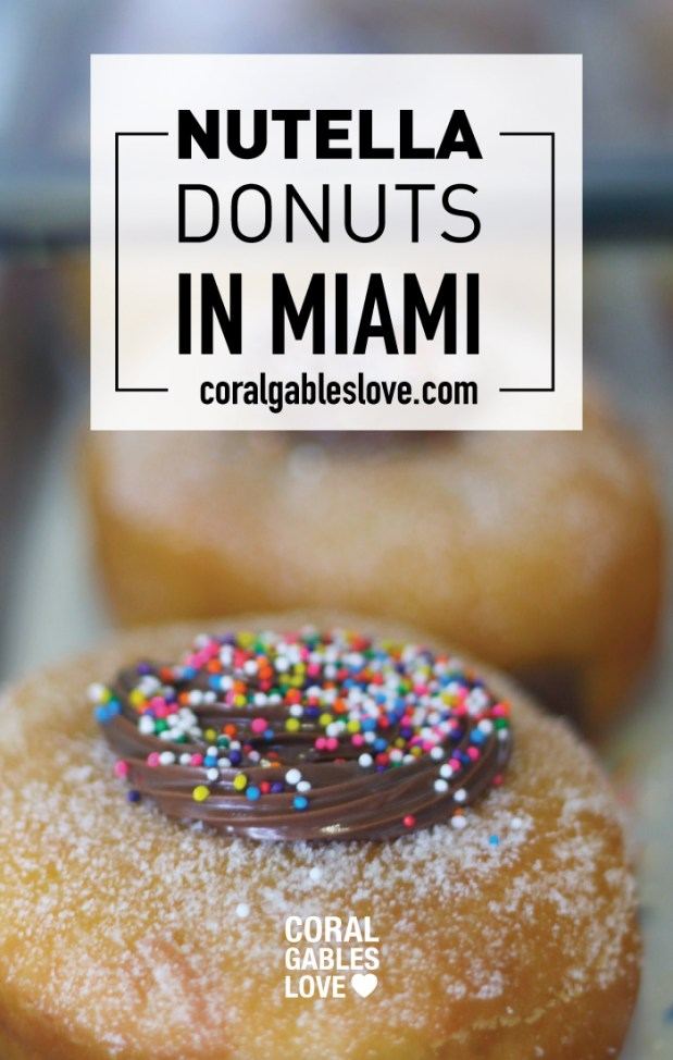 The Best donuts in Miami are Honeybee Doughnuts in South Miami. This flavor is nutella