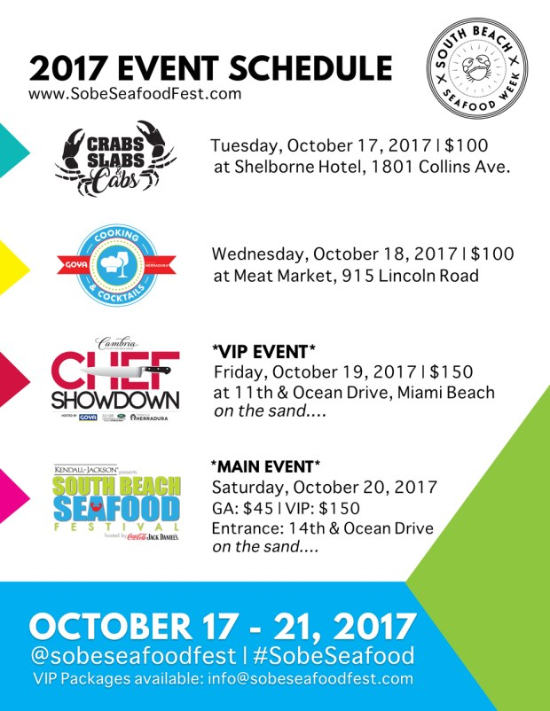 South Beach Seafood Week Event Schedule
