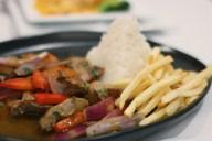 Lomo Saltado from Mikuna. Mikuna is the best Peruvian restaurant in Coral Gables.