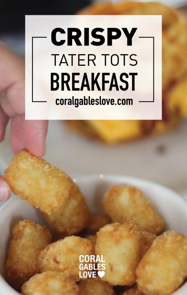 Spring Chicken Breakfast menu crispy tater tots. Miami restaurant.