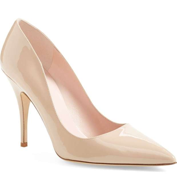 Business Style Kate Spade New York Nude Patent Heels