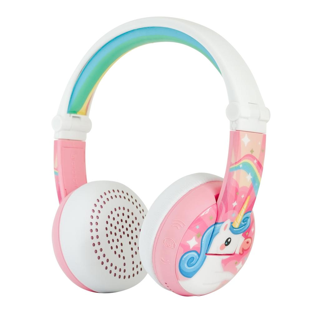 Unicorn Headphones with Volume Limiting Feature for Kids