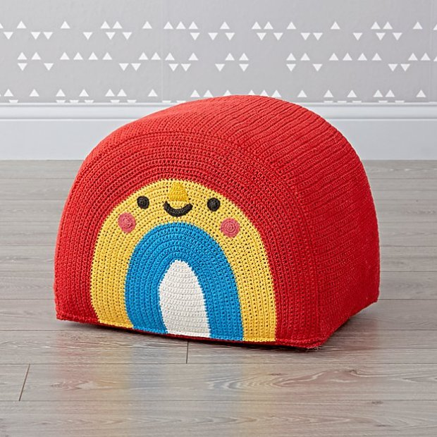 Best Gifts For Kids - Cute Rainbow Pouf Chair