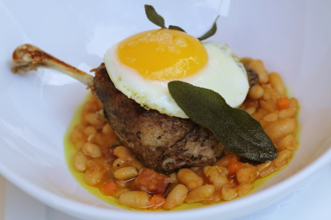 Duck Confit from Le Provençal the best French restaurant in Coral Gables. Miami, Florida.