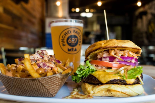Pincho Burger from Pincho Factory is one of the best burgers in Miami