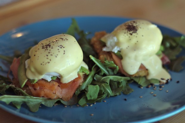 For the BEST Avocado Eggs Benedict in Miami visit SushiKONG. They are served on a crispy rice patty. So Yummy!