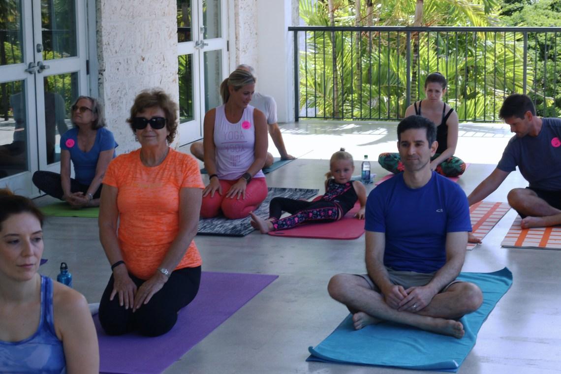 Outdoor Yoga and Fairchild Tropical Botanic Garden in Coral Gables, Florida - Miami
