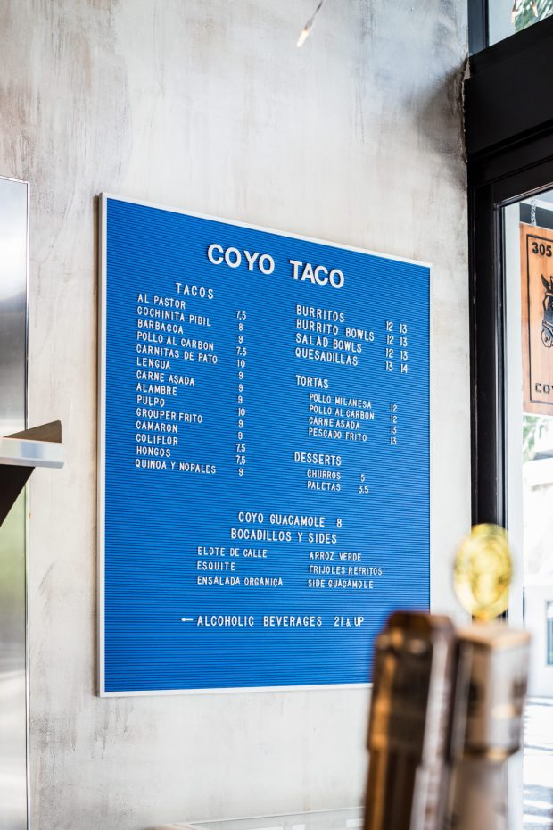 Coyo Taco Coral Gables location on Giralda Avenue