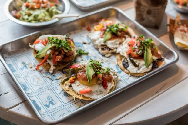 Coyo Taco Coral Gables location on Giralda Avenue brunch huevos rancheros