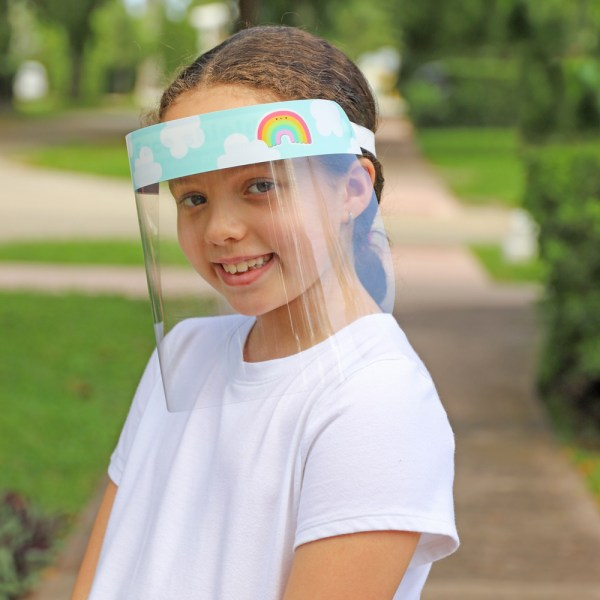 Kids Colorful Rainbow Protective Face Shield